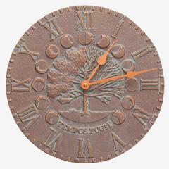 Time and Seasons Clock, COPPER VERDIGRIS