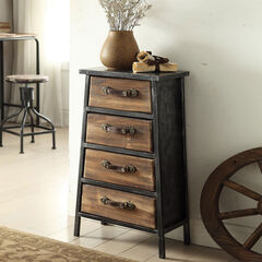 4 Drawer Chest, BLACK GRAY
