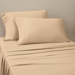 Organic Cotton 300 Thread Count Sheet Set, OXFORD TAN