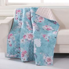Barefoot Bungalow Avril Quilted Throw Blanket, TURQUOISE BLUE