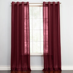 BH Studio Sheer Voile Grommet Panel, BURGUNDY