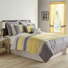 Bedford 8-Pc. Comforter Set, YELLOW GRAY