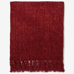 Chenille Throw, ROSEWOOD