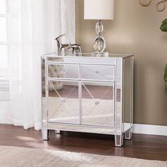 Mirage Mirrored Cabinet, SILVER