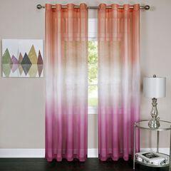 Rainbow Single Grommet Window Curtain Panel, PINK