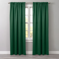 BH Studio Room-Darkening Rod-Pocket Panel, LEAF GREEN