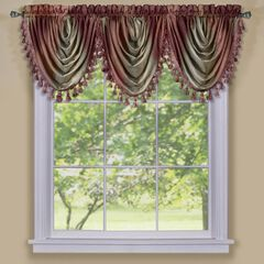 Ombre Waterfall Valance, BURGUNDY