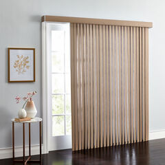 Embossed Vertical Blinds, LIGHT TAUPE