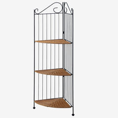 3 Tier Corner Bookcase, HONEY