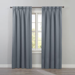 BH Studio Room-Darkening Pinch Pleat Panel, PEWTER