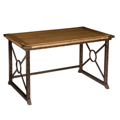 Tilt-Top Drafting Table, OAK ANTIQUE BRASS