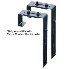Mayne® Mayne Adjustable Deck Rail Bracket 2-Pack,