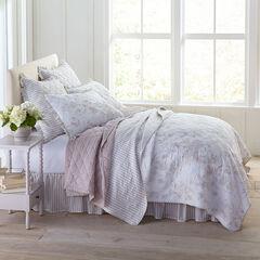 Frances 6-Pc. Rose Pattern Quilt Set, SMOKY TAUPE