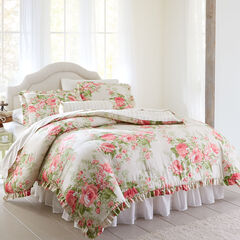 Brianna Cabbage Rose Comforter,