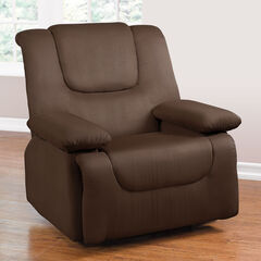 Storage Arm Recliner, DARK BROWN