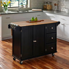 Liberty Kitchen Cart, BLACK