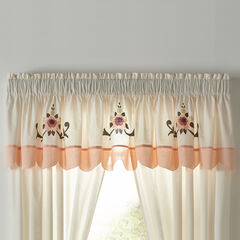 Ava Embroidered Valance, BLUSH