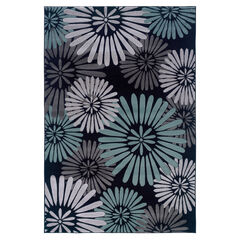 Milan Black/Aqua 8'X10' Area Rug,