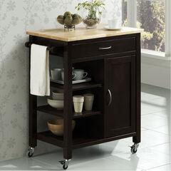 Black Kitchen Cart,