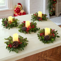 Bellmead Holiday Candle Ring, Set of 5, MULTI
