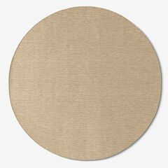 "Carmel Indoor/Outdoor Solid Textured Rug 7'10""Diam., SAND"