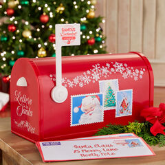 Mr. Christmas Santa's Enchanted Mailbox, RED