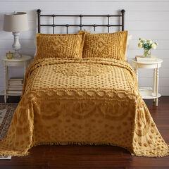 Georgia Chenille Bedspread, GOLD