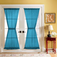 BH Studio Sheer Voile Door Panel With Tiebacks, TEAL