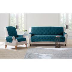 BH Studio Water-Repellent Microfiber Sofa Protector, PEACOCK