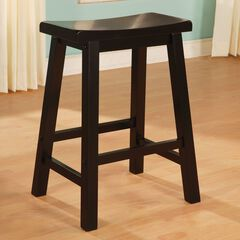 Wood Counter Stool, ANTIQUE BLACK