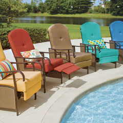 Extra Wide Outdoor Recliner with Cushion,