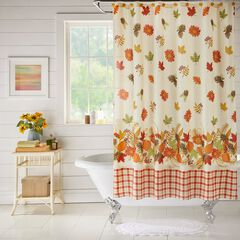 13-Pc. Vintage Floral Shower Curtain Set, HARVEST LEAF