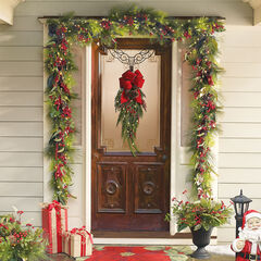 "68""L Winterberry Garland, MULTI"
