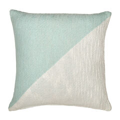 Colorblock Decorative Pillow, BLUE WHITE