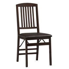 Mission Back Folding Chair, ESPRESSO