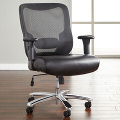 Big & Tall Mesh Office Chair, BLACK