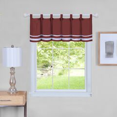 "Dakota Window Curtain Valance 58"" x 14"", BURGUNDY"