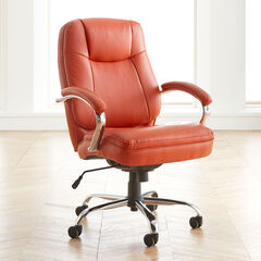 Oversized Women's Office Chair, ORANGE