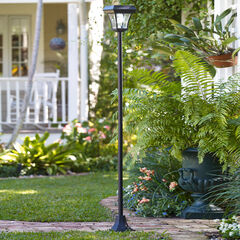 Solar Garden Lamp Post, BLACK