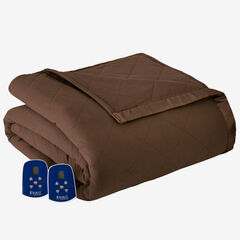 Micro Flannel® Electric Blanket, CHOCOLATE