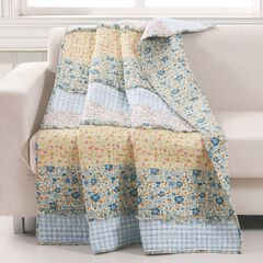 Barefoot Bungalow Ditsy Ruffle Quilted Throw Blanket, MULTI