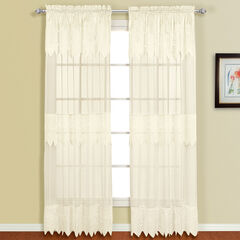 Valerie Panel with Attached Valance, NATURAL