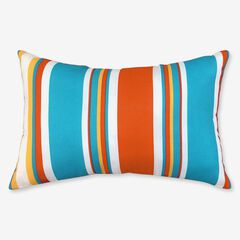 "20"" x 13"" Lumbar Pillow, RED BLUE STRIPE"