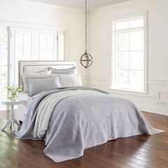 Bernadette Embroidered Bedspread, CHATEAU GRAY