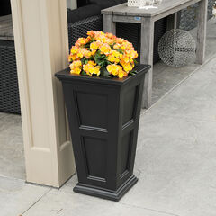Mayne® Fairfield Tall Planter, BLACK