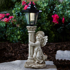 Angel with Solar Lantern, GRAY