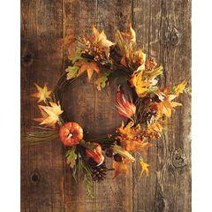 Harvest Wheat Wreath, MULTI