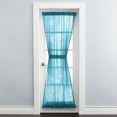 BH Studio Sheer Voile Door Panel With Tiebacks, DARK TURQUOISE