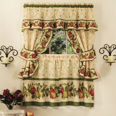 Apple Orchard Cottage Window Curtain Set, ANTIQUE