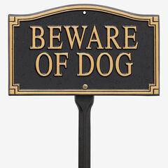 """""""Beware of Dog"""" Statement Marker,"""